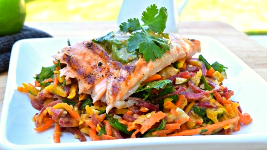 Thai Salmon Carrot Salad